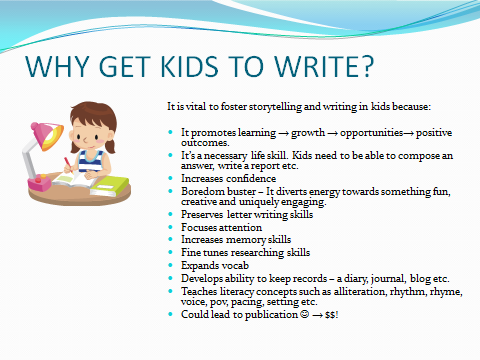 how to write a memoir for kids