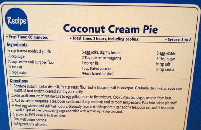 Heidi's Mix: Coconut Cream Pie