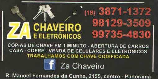 NÃO FIQUE NA MÃO, NA HORA DO SUFOCO  ZÁ CHAVEIRO RESOLVE!!