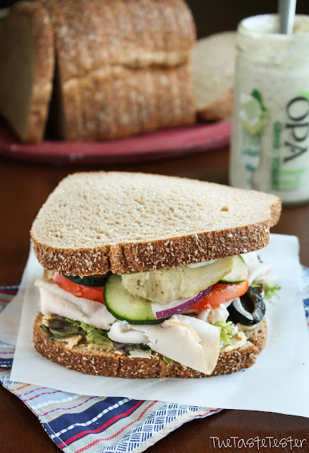 """The Greek"", A Satisfying Sandwich Recipe from www.the-taste-tester.com"