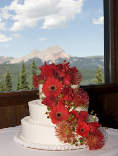 Add bright fresh flowers to a plain cake for a burst of color!