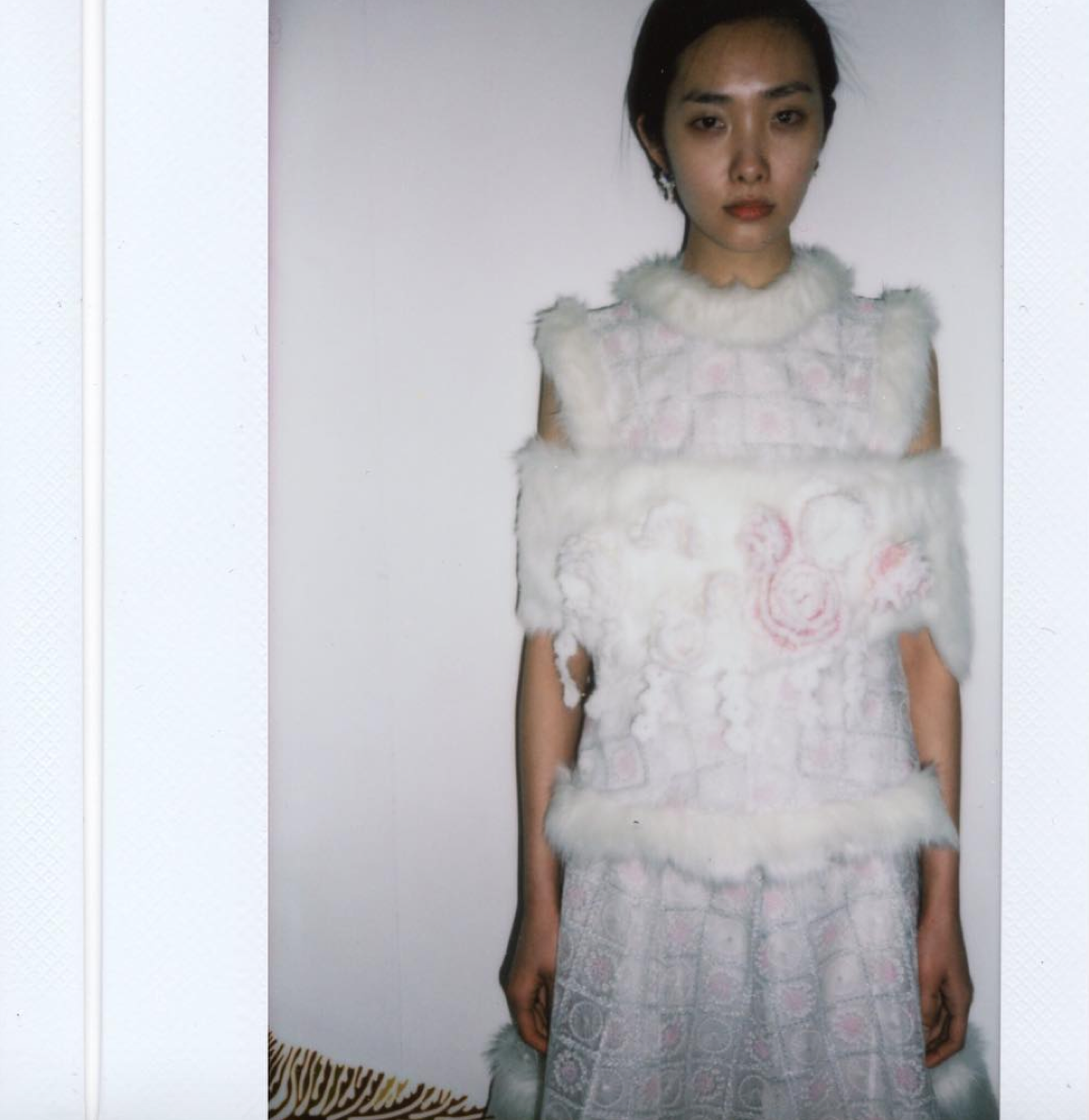 Backstage polariod from London designer Ryan Lo's Spring 2016 fashion show.