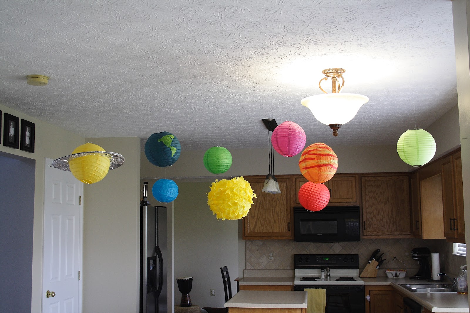 Classroom Decoration Hanging Ideas ~ Planets to hang from ceiling pics about space