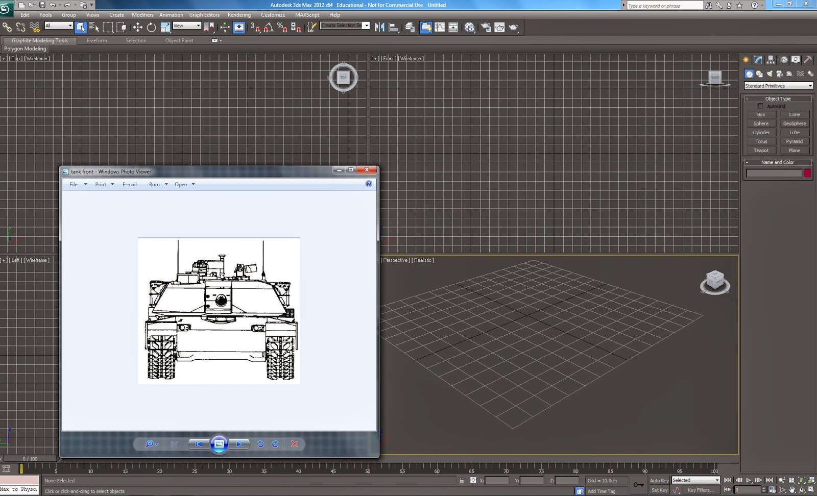 My simply asas modeling modeling a tank tutorial 1 blueprint and 3dsmax interface malvernweather Choice Image