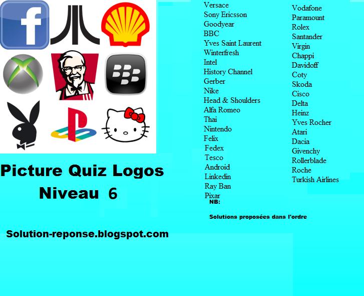 Picture Quiz logos solution niveau 6