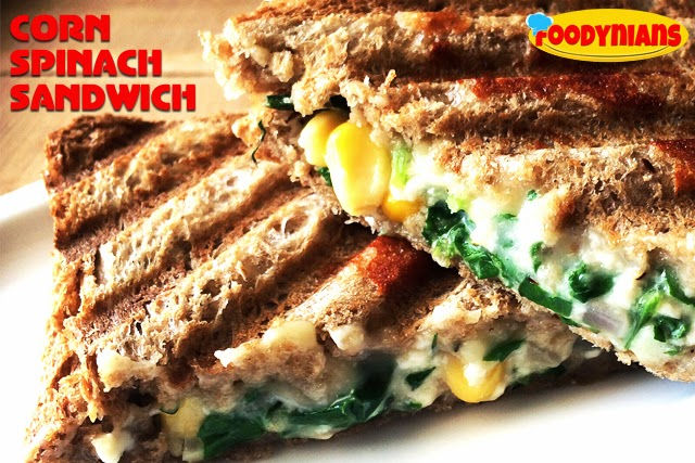 Corn-Spinach-Sandwich