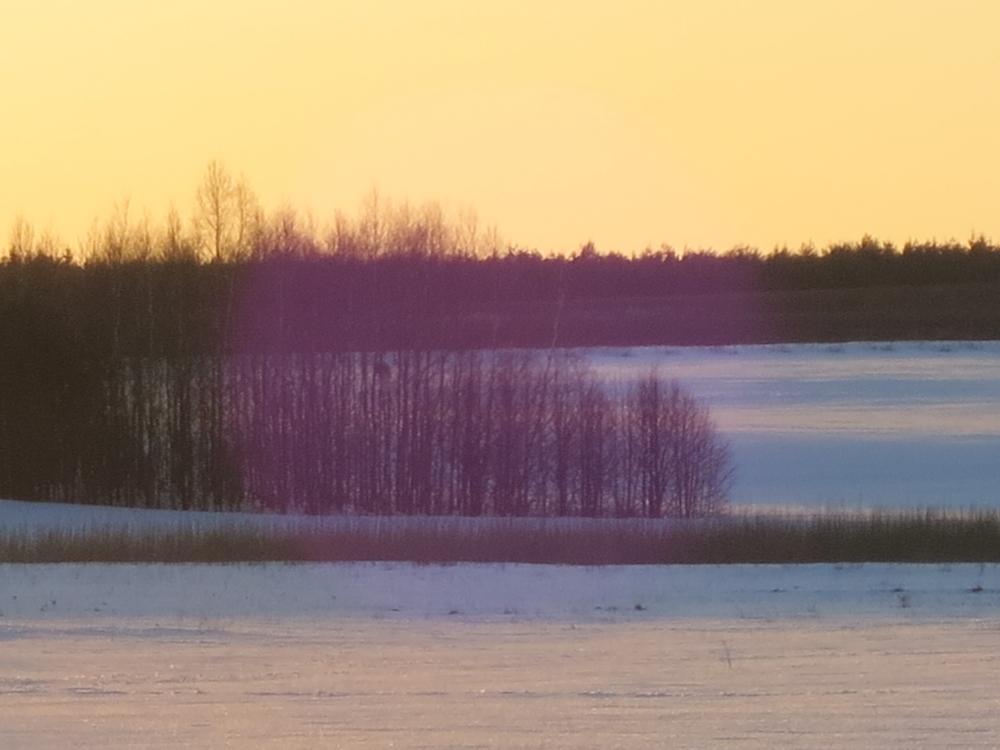 Krajobraz Harkawicki przefiltrowany przez promienie słoneczne