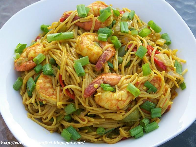 Kitchen Simmer: Shrimp & Singapore Noodles