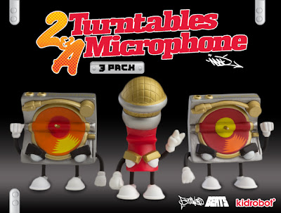 Kidrobot - 2 Turntables & A Microphone Mini Figure 3 Pack by MAD