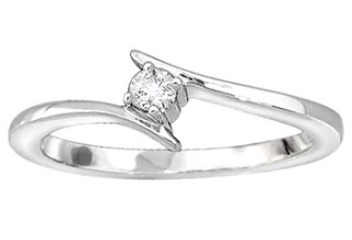 14k White Gold Diamond Promise Ring (1/10 cttw, H-I Color, I1-I2 Clarity), Size 7