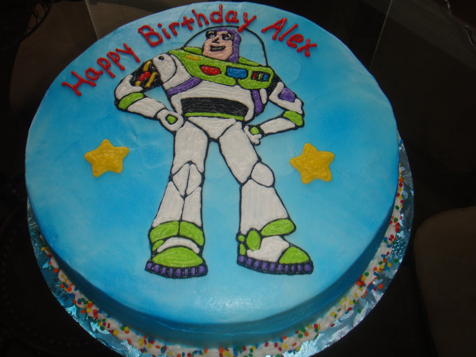 Vickis Sweet Treats Alexs Buzz Lightyear Themed Birthday Cake
