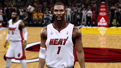 NBA 2K13 Chris Bosh Cyberface Mod