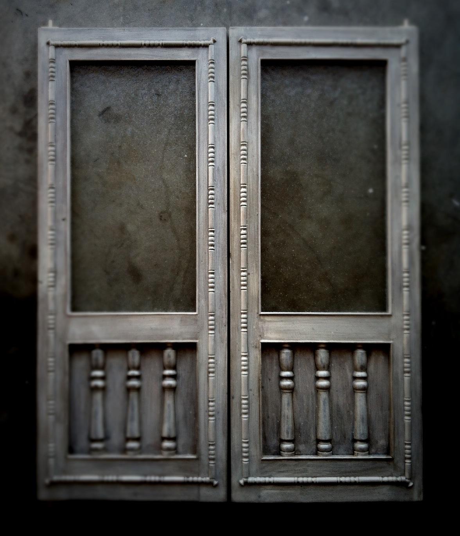 Handcrafted Distressed Swinging Saloon Doors