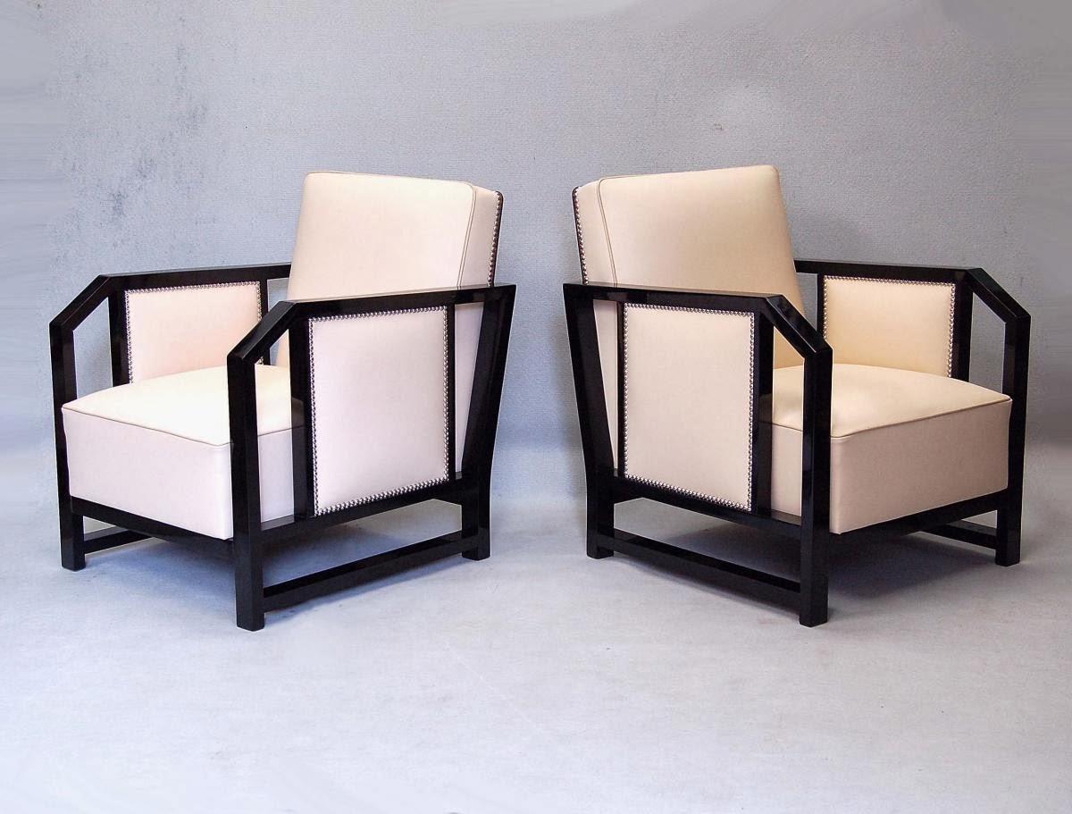 Il blog degli antiquari poltrone art deco - Art deco mobili ...