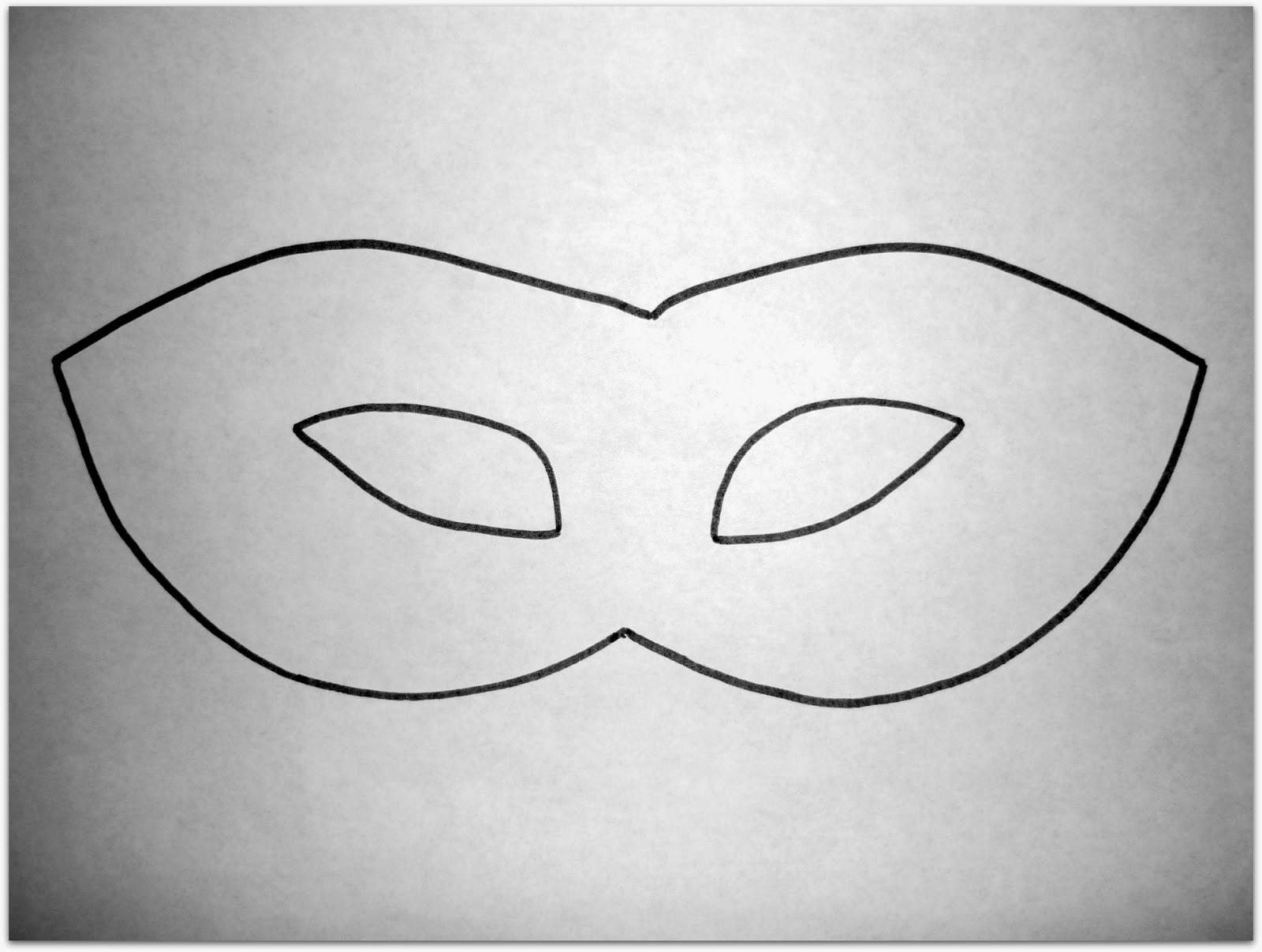Plantilla para imprimir antifaz de Carnaval 2