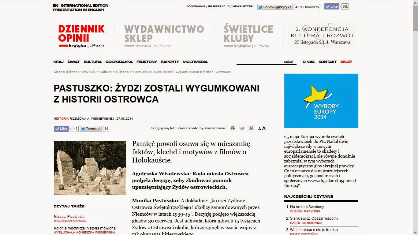 http://www.krytykapolityczna.pl/artykuly/historia/20140827/pastuszko-zydzi-sa-wygumkowani-z-historii-ostrowca