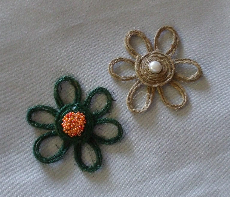 Цветы из бечёвки своими руками