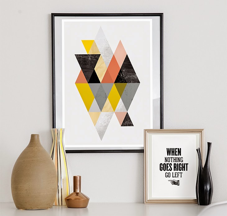 scandinavian abstract print