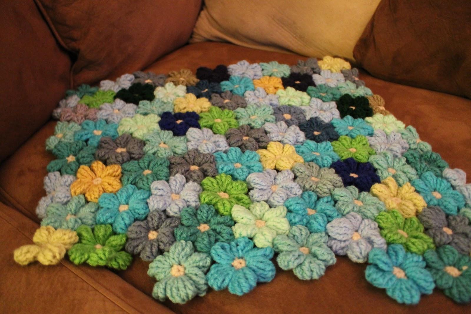 Free Crochet Pattern For Flower Baby Blanket ~ Dancox for .