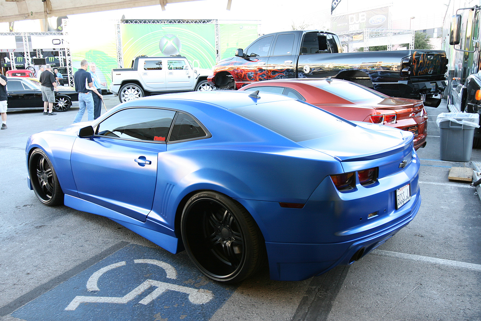 Matte Blue Chevy Camaro Widebody Modified Cars And Auto