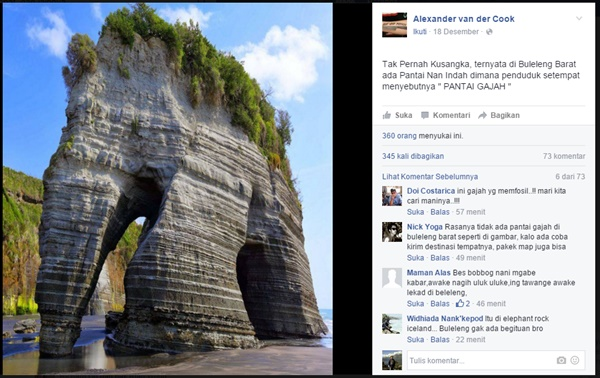Buleleng Punya Pantai Namanya Pantai Gajah?