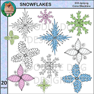 https://www.teacherspayteachers.com/Product/Snowflake-Clip-Art-Winter-2200139