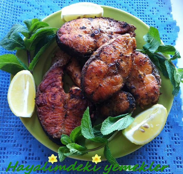 Somon Balığı  Kızartması, resimli Somon Balığı  Kızartması