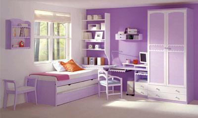 Decoracion actual de moda paredes pintadas de dos colores - Habitaciones de ninos pintadas ...