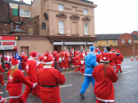 Image of refreshments during the Liverpool Santa Dash 2013