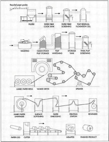 process flow sheets  toilet paper production process