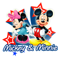 Personagens Disney-Mickey e Minnie em Png