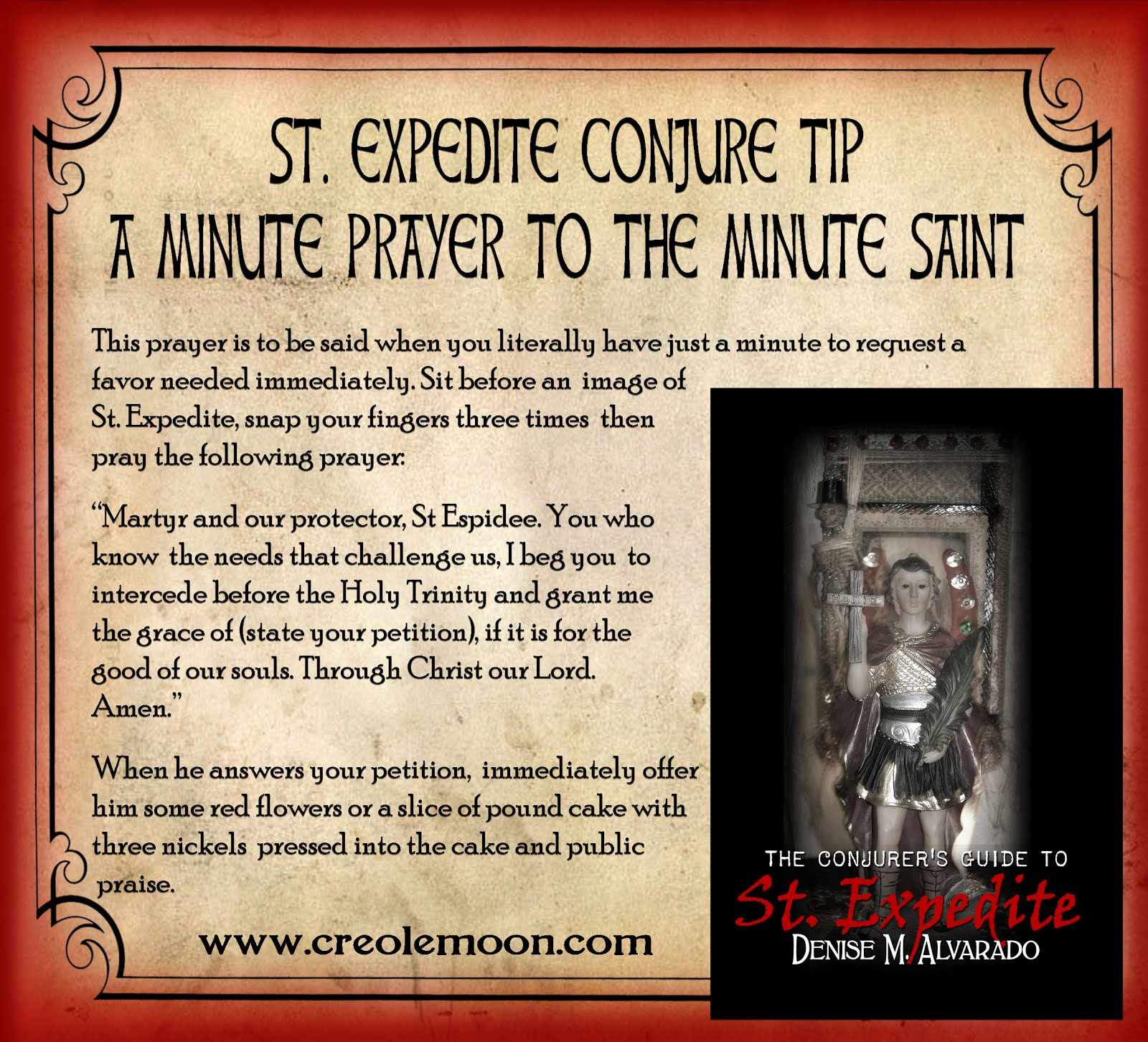 A Minute Prayer to the Minute Saint