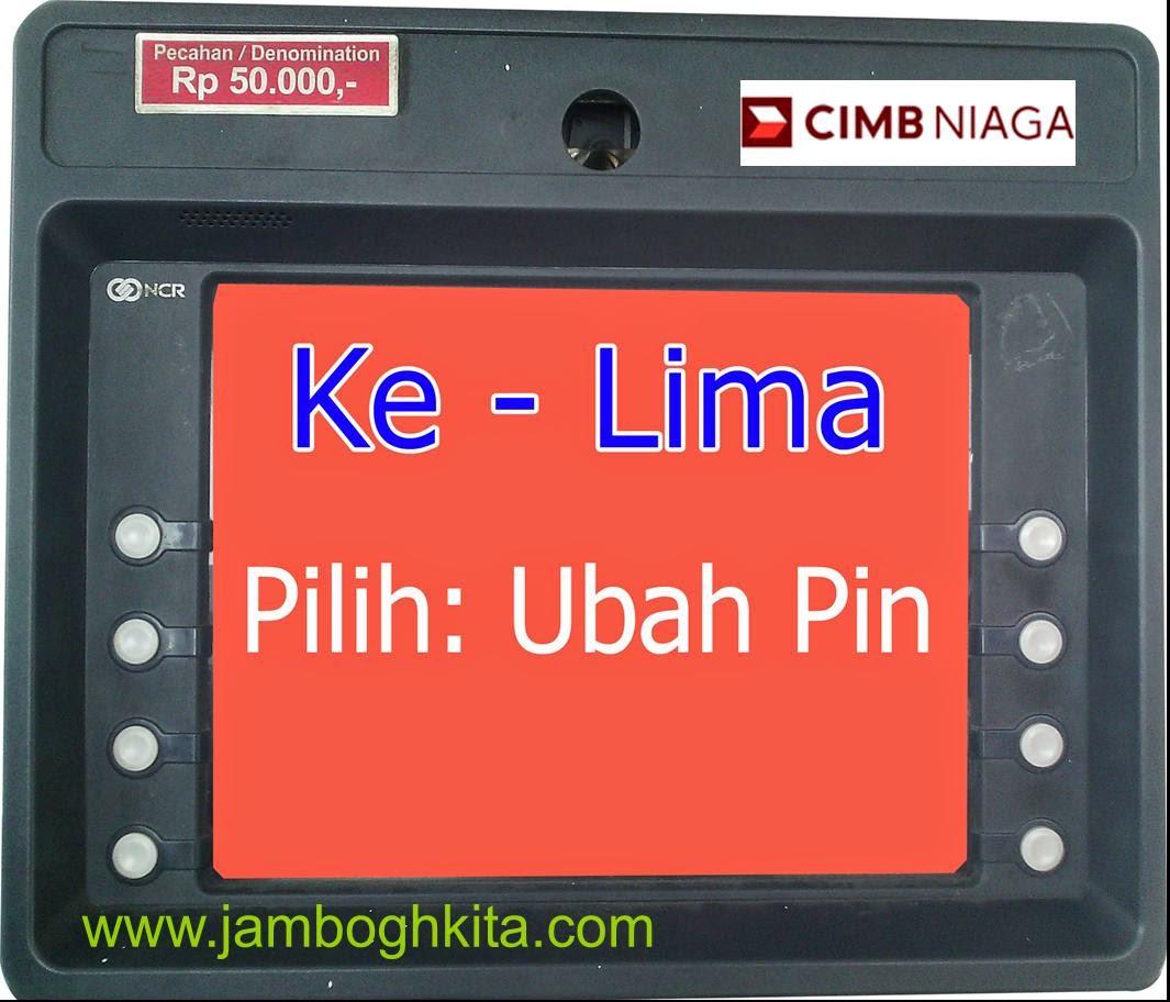 Cara Ganti PIN Kartu Kredit Melalui ATM CIMB Niaga