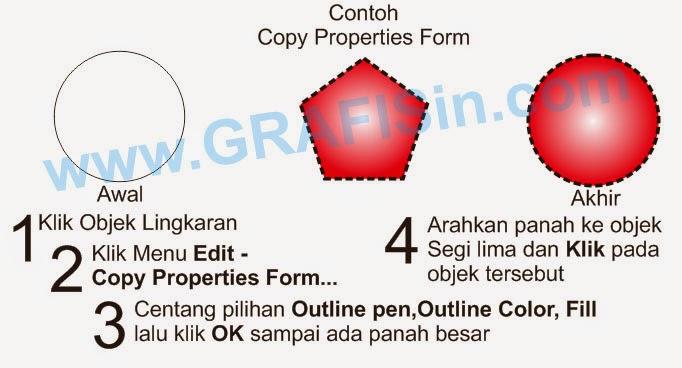 Copy Properties Form pada CorelDraw