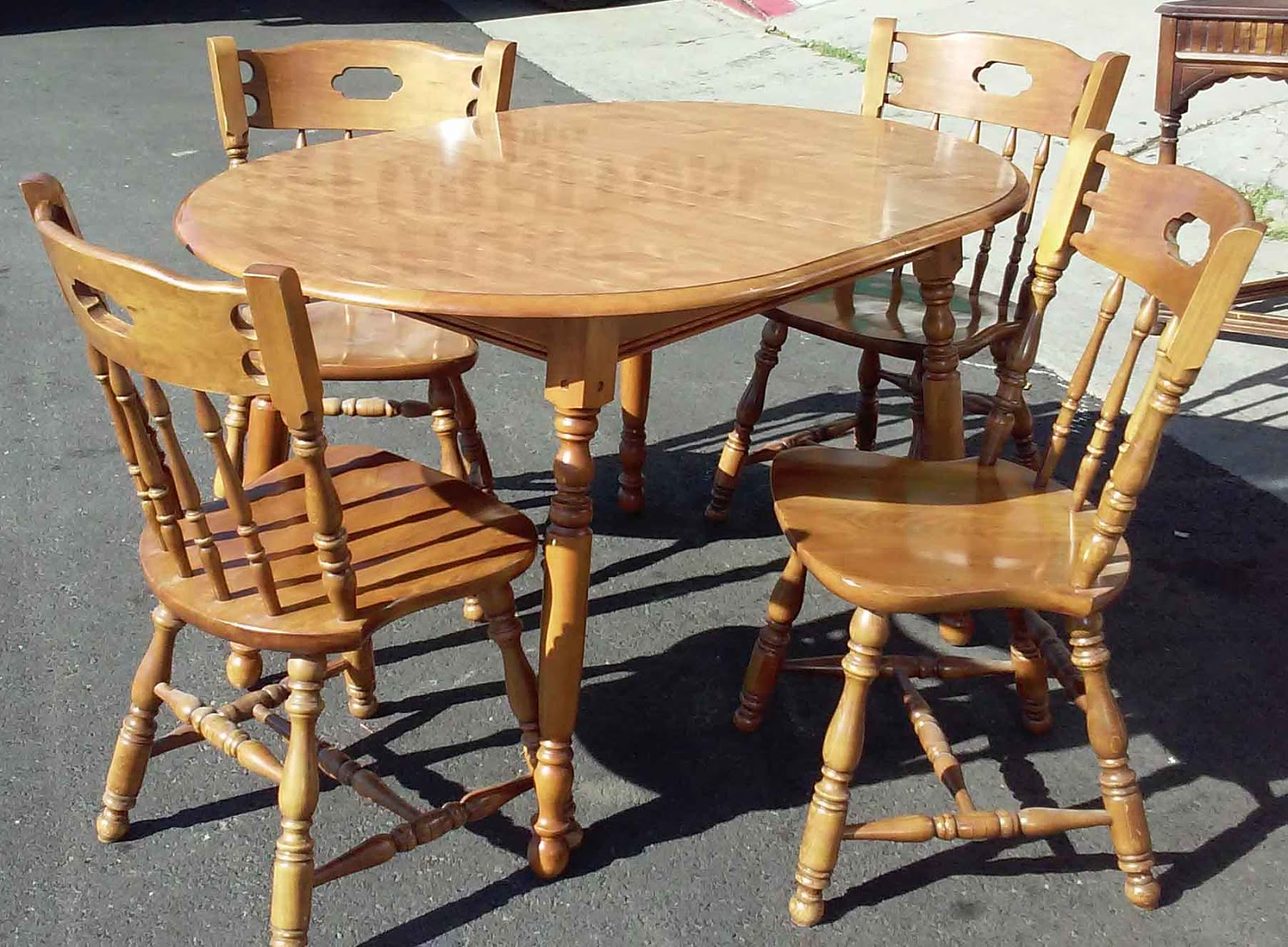 UHURU FURNITURE COLLECTIBLES SOLD Early American Table Set with