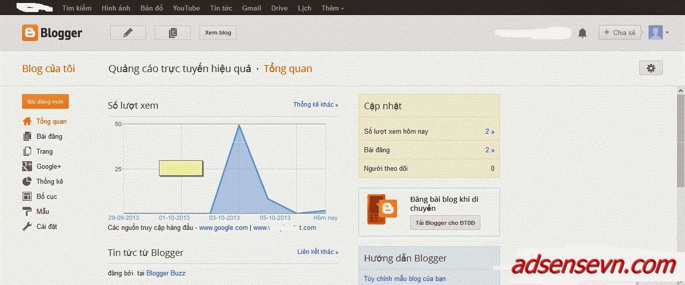 Hướng dẫn đăng ký và sử dụng Blogspot (Blogger)