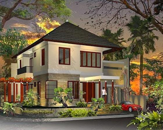 desain rumah mewah keren 2 Lantai - gambar 01