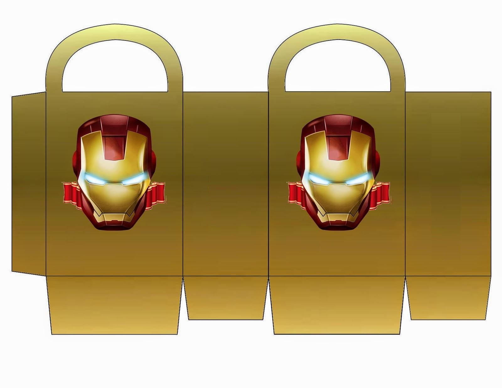 Iron Man: Bolsa de Papel para Imprimir Gratis. | Ideas y ...