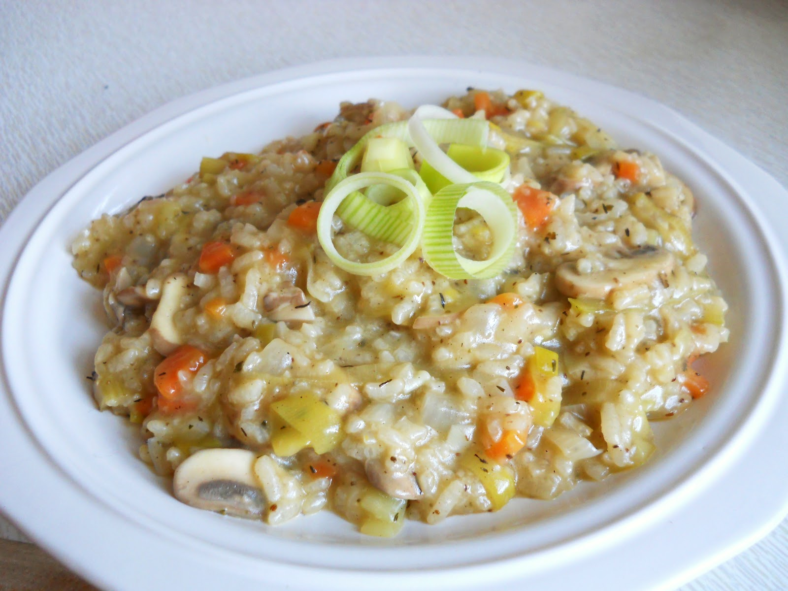 ... Home Chef: Heaven is a Spring Risotto with Leek, Mushroom and Carrot