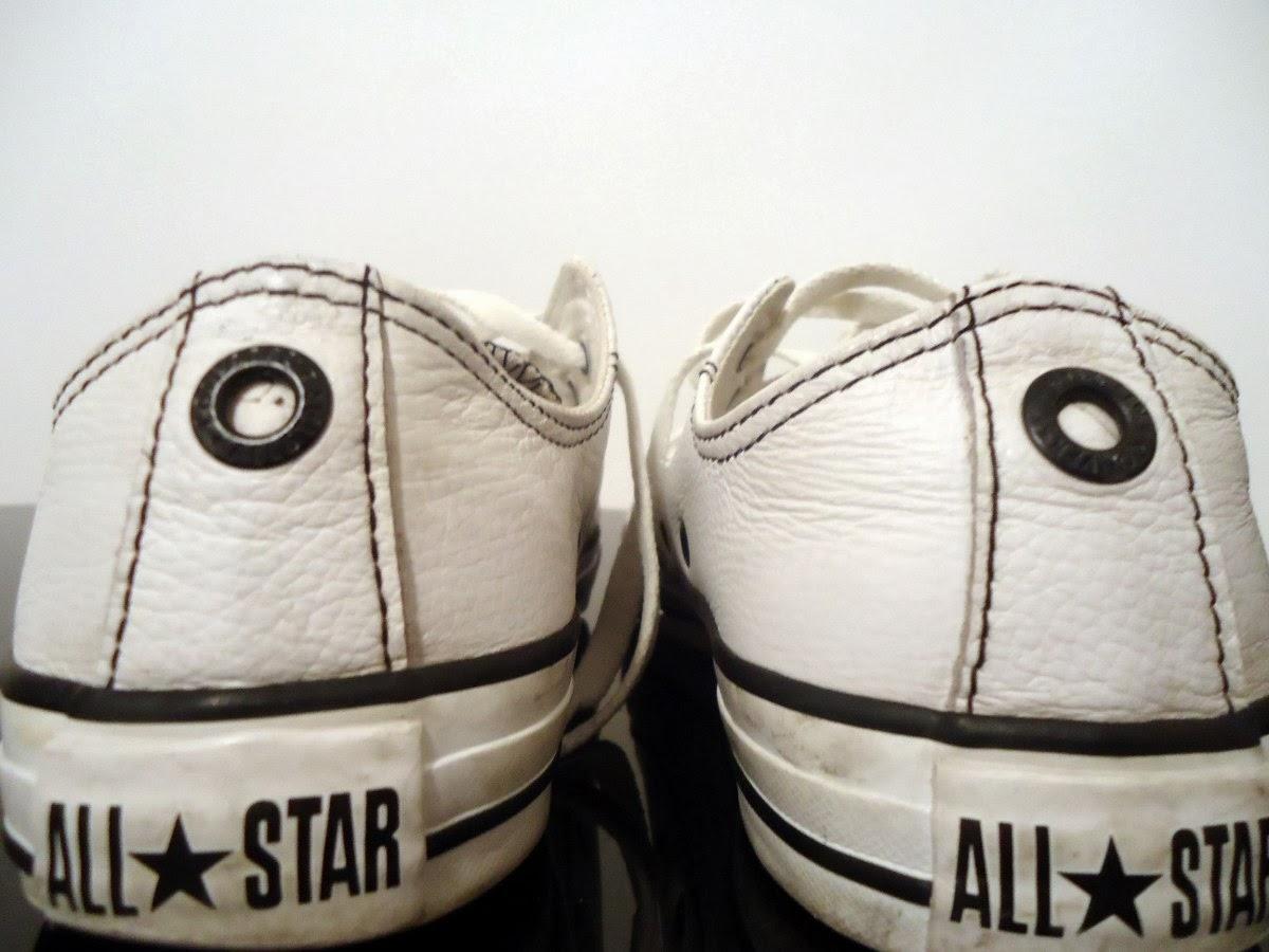 a1d6c7578cd All Star de Couro branco original. Usado pouquissimas vezes e esta em  perfeito estado! Sem defeitos. Sério
