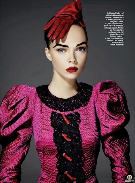elsa schiaparelly, fancy hat, hot pink, shocking pink, fashion history, fashion 1950, pink dress