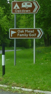 Follow the brown tourist sign to find the Oak Mead Family Golf Centre on Gatedown Lane in Sidmouth, Devon