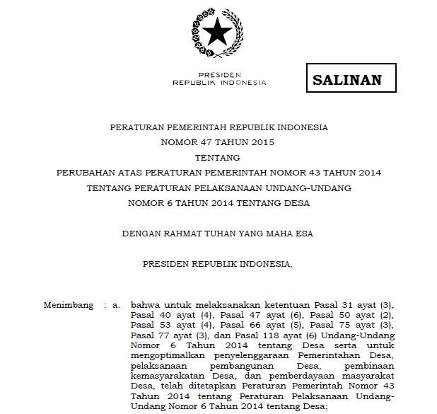 Undang Undang Desa Terbaru 2015