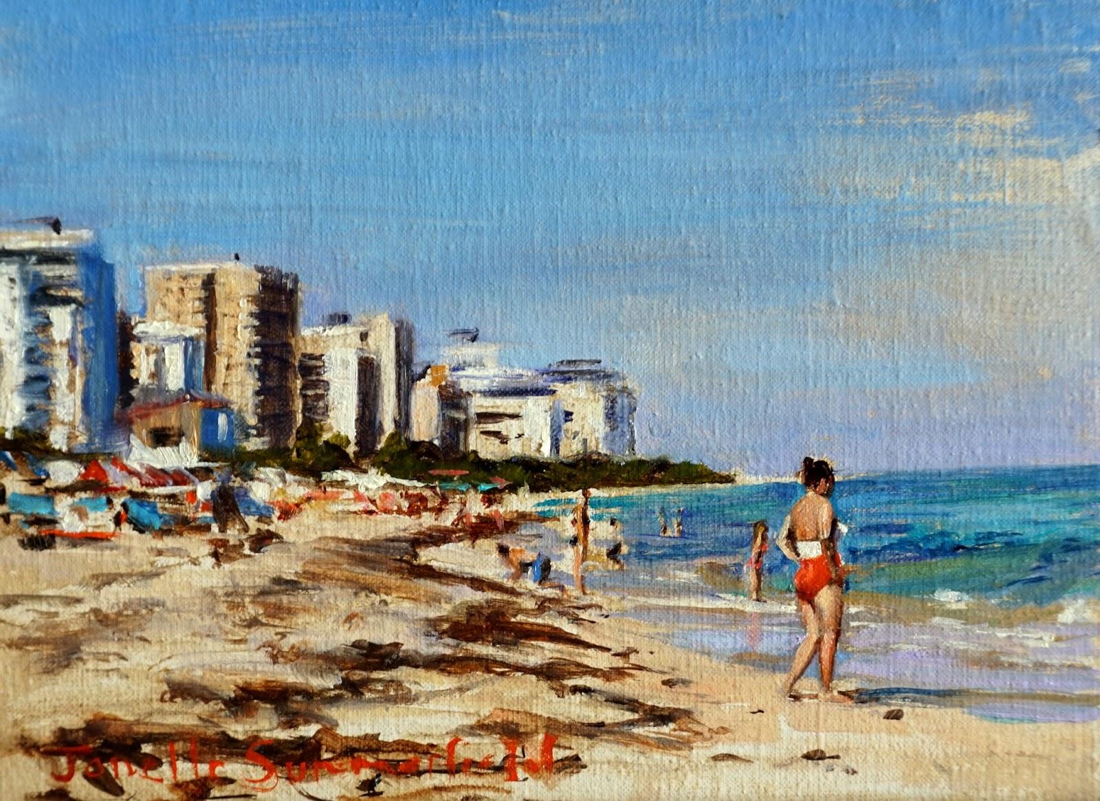 Jonelle Summerfield Oil Paintings Miami Beach - Painting miami