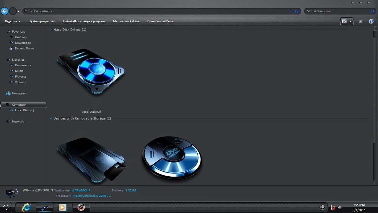 Download Iron Man 3 Windows 8 Theme