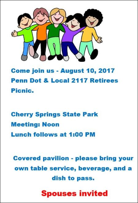 8-10 Penn Dot & Local 2117 Retirees Picnic