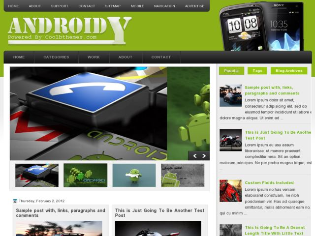 Androidy Blogger Template