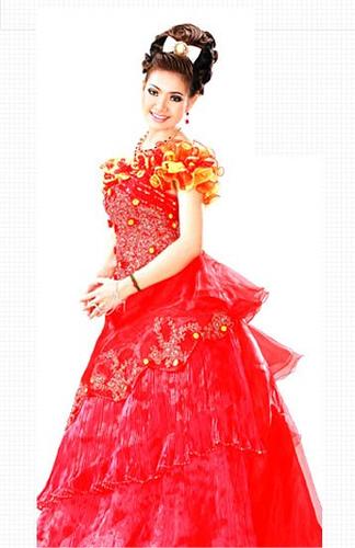 Cambodian Dresses Khmer Girl Wedding Dress