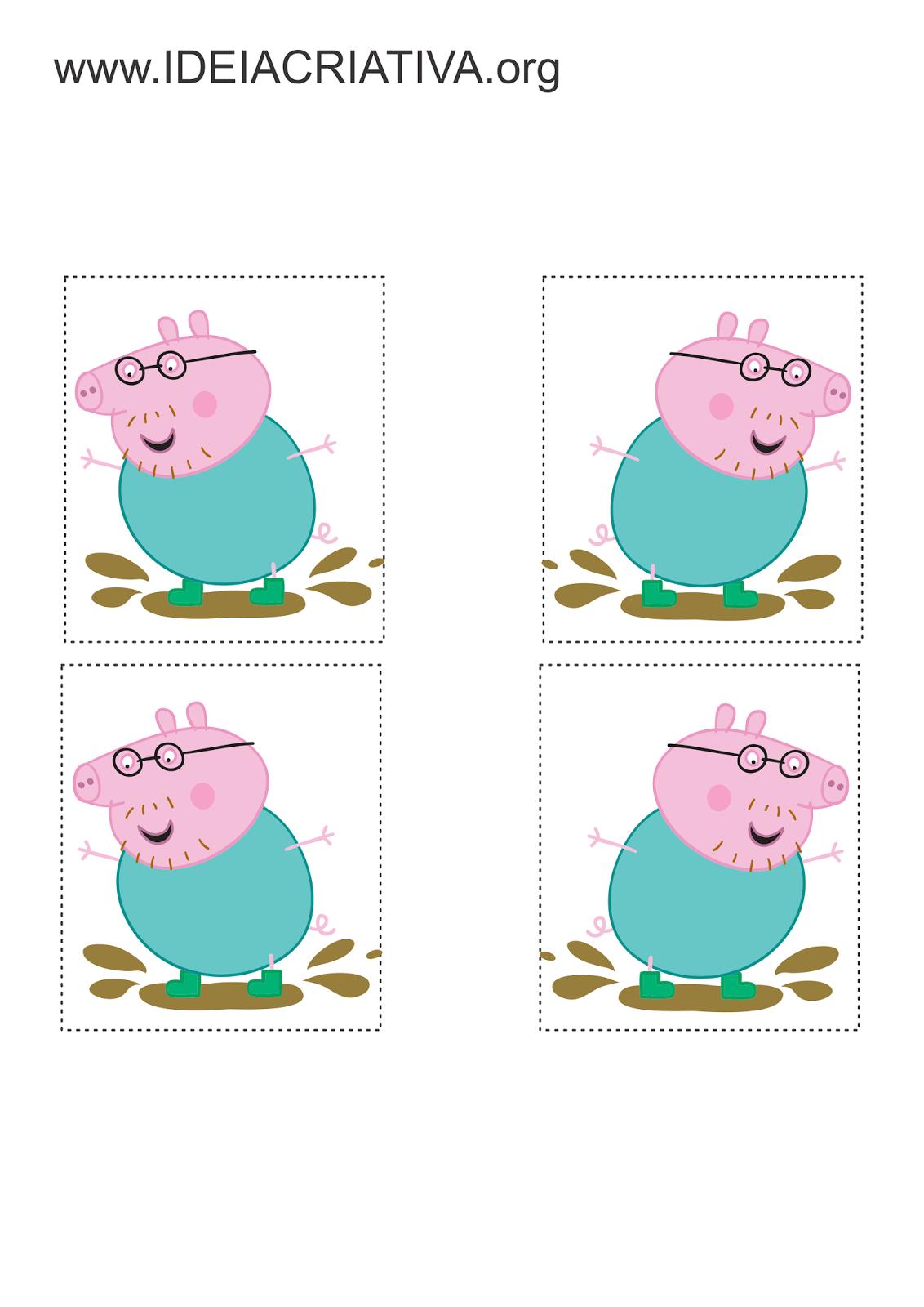 Atividade Lateralidade Autismo Infantil Peppa Pig