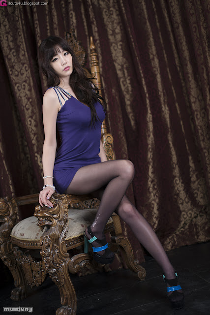 3 Hong Ji Yeon in Purple-Very cute asian girl - girlcute4u.blogspot.com